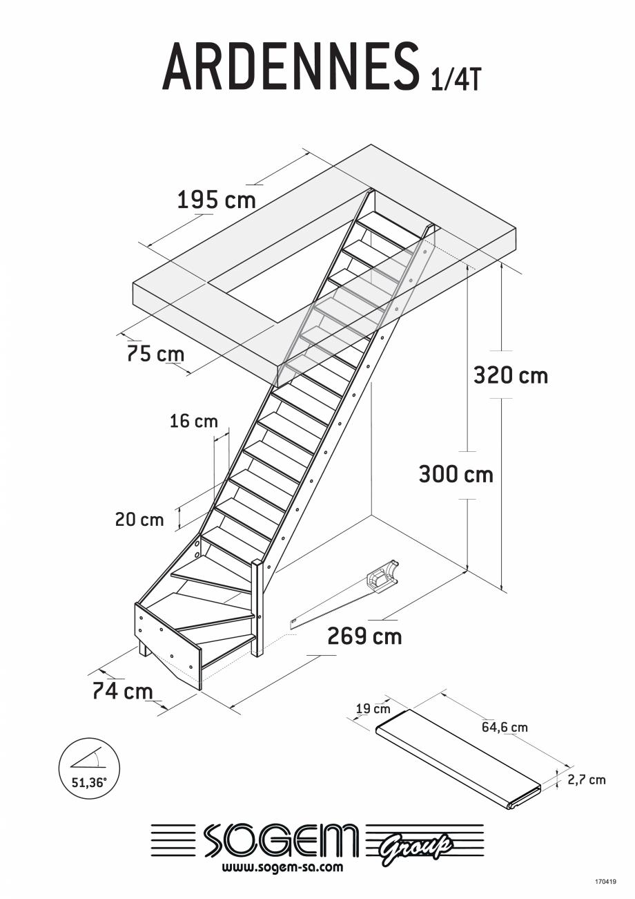Pagina 3 - Scari pe structura din lemn SOGEM Ardennes Fisa tehnica Romana