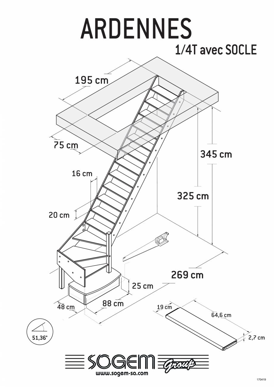 Pagina 4 - Scari pe structura din lemn SOGEM Ardennes Fisa tehnica Romana