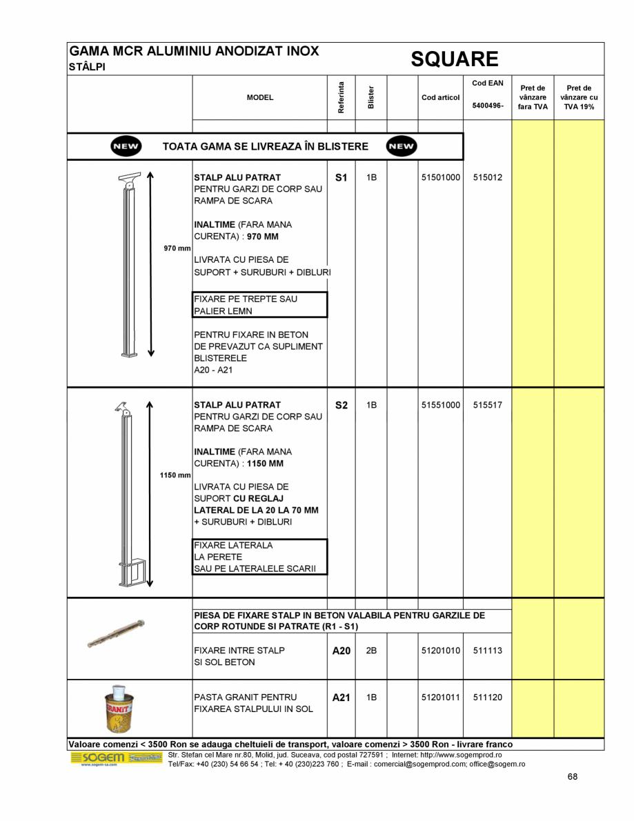 Pagina 74 - Scari moderne SOGEM Gomera, Kalea, Tambora, Triax, Auvergne, Bretagne, Osaka, Tokyo,...