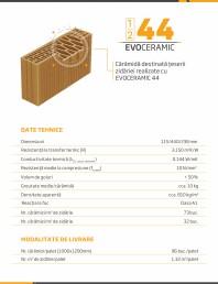 Caramida destinata teserii zidariei realizate cu EVOCERAMIC 44