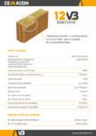 Caramida izolanta cu vata bazaltica cu nut si feder pentru pereti de compartimentare CEMACON - EVOCERAMIC