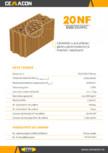 Caramida cu nut si feder pentru pereti exteriori si interiori neportanti CEMACON - EVOCERAMIC EC 20