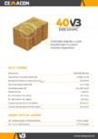Caramida izolanta cu vata bazaltica pentru pereti exteriori neportanti  CEMACON - EVOCERAMIC 40 VB