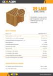 Caramida cu locas mortar pentru pereti exteriori si interiori portanti si neportanti CEMACON - EVOCERAMIC EC