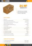 Caramida cu nut si feder pentru pereti exteriori si interiori neportanti CEMACON - EVOCERAMIC EC 24