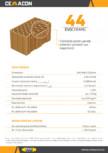 Caramida pentru pereti exteriori portanti sau neportanti  CEMACON - EVOCERAMIC EC 44