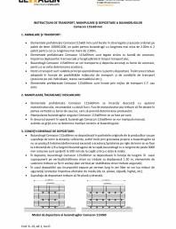 Instructiuni de transport, manipulare si depozitare a buiandrugilor 115 x 69 mm