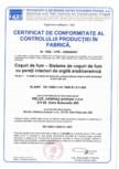 Certificat de conformitate al productiei in fabrica cos de fum HELUZ