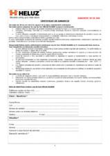 Certificat de garantie cos de fum HELUZ