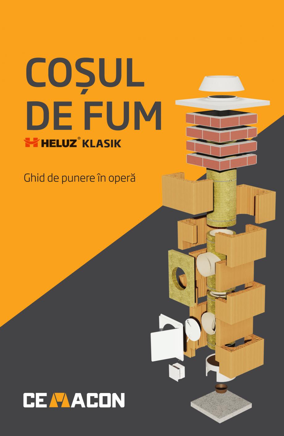 Pagina 1 - Instructiuni de punere in opera a cosului de fum HELUZ Instructiuni montaj, utilizare...