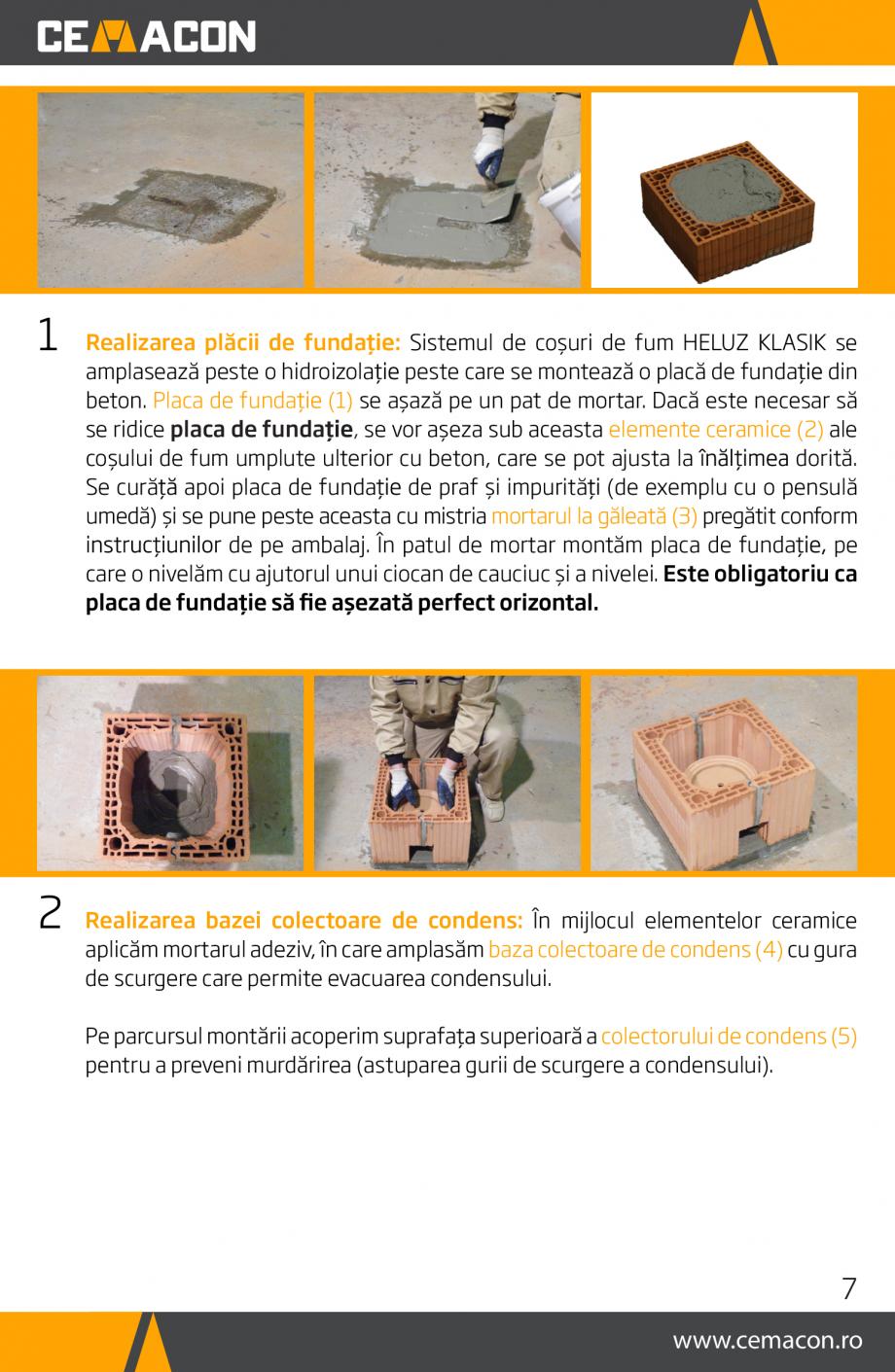 Pagina 7 - Instructiuni de punere in opera a cosului de fum HELUZ Instructiuni montaj, utilizare...