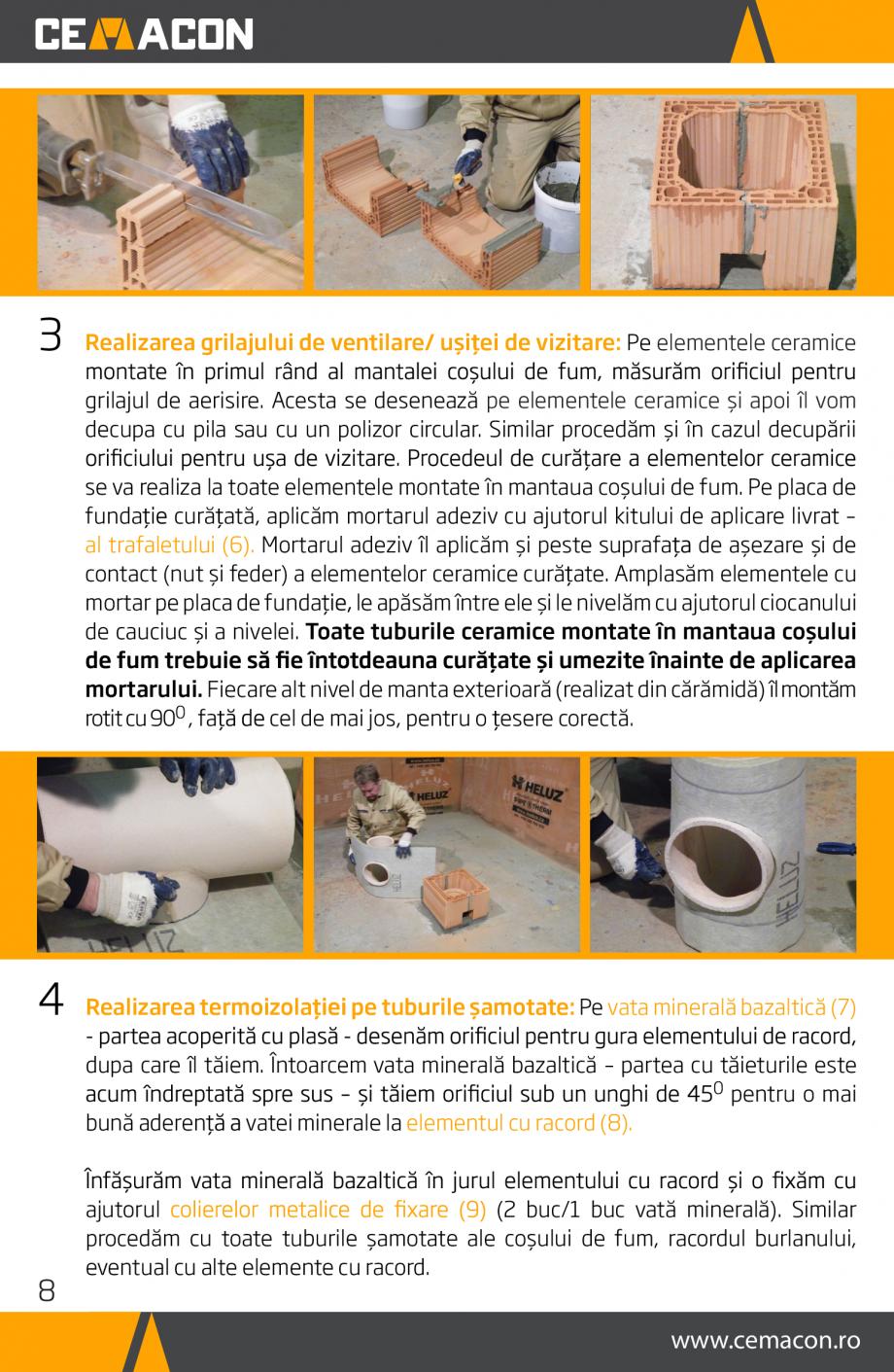 Pagina 8 - Instructiuni de punere in opera a cosului de fum HELUZ Instructiuni montaj, utilizare...