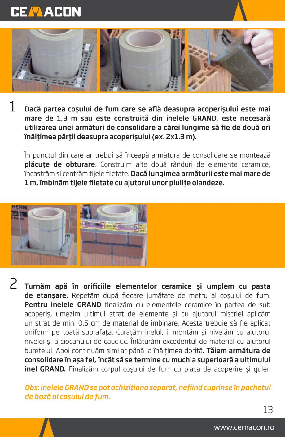 Pagina 13 - Instructiuni de punere in opera a cosului de fum HELUZ Instructiuni montaj, utilizare...