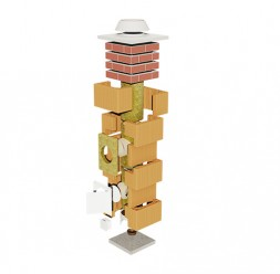 Sistem de cos de fum cu invelis ceramic HELUZ