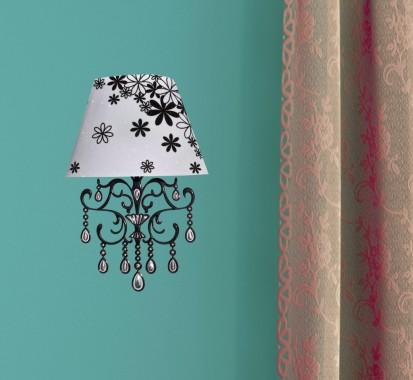 Sticker 3D cu LED in forma de aplica / Sticker 3D LED - Aplica Floricele
