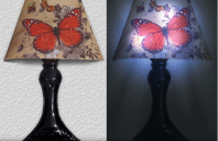 Stickere 3D cu LED in forma de veioza sau aplica Alegeti aceste stickere 3D cu LED Easy Decoration in forma de veioza sau aplica ce se pot lipi pe pereti, pe usi, ferestre sau oriunde va doriti.
