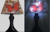 Stickere 3D cu LED in forma de veioza sau aplica