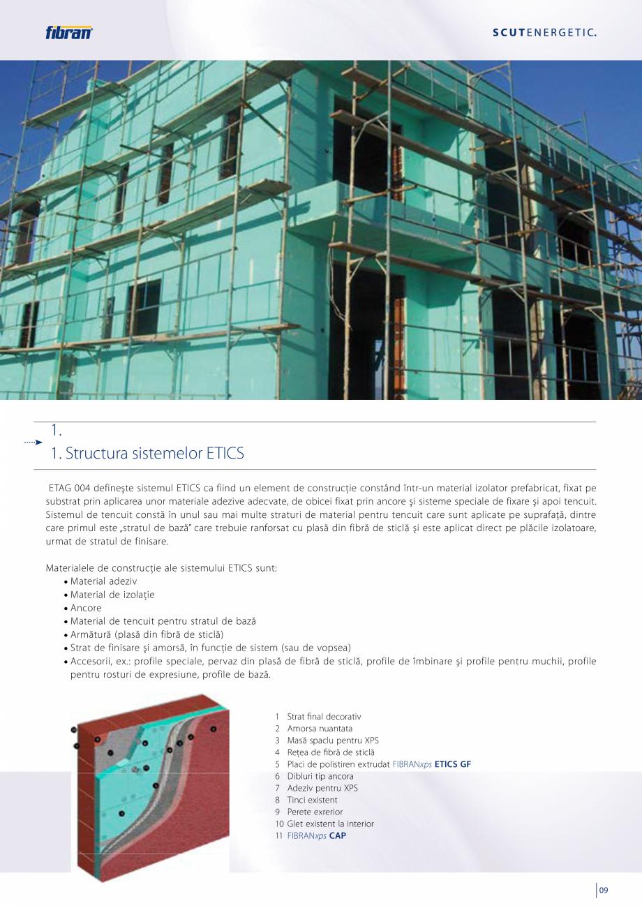 Pagina 7 - Sisteme compozite pentru termoizolarea peretilor exteriori FIBRANxps ETICS GF, ETICS BT...
