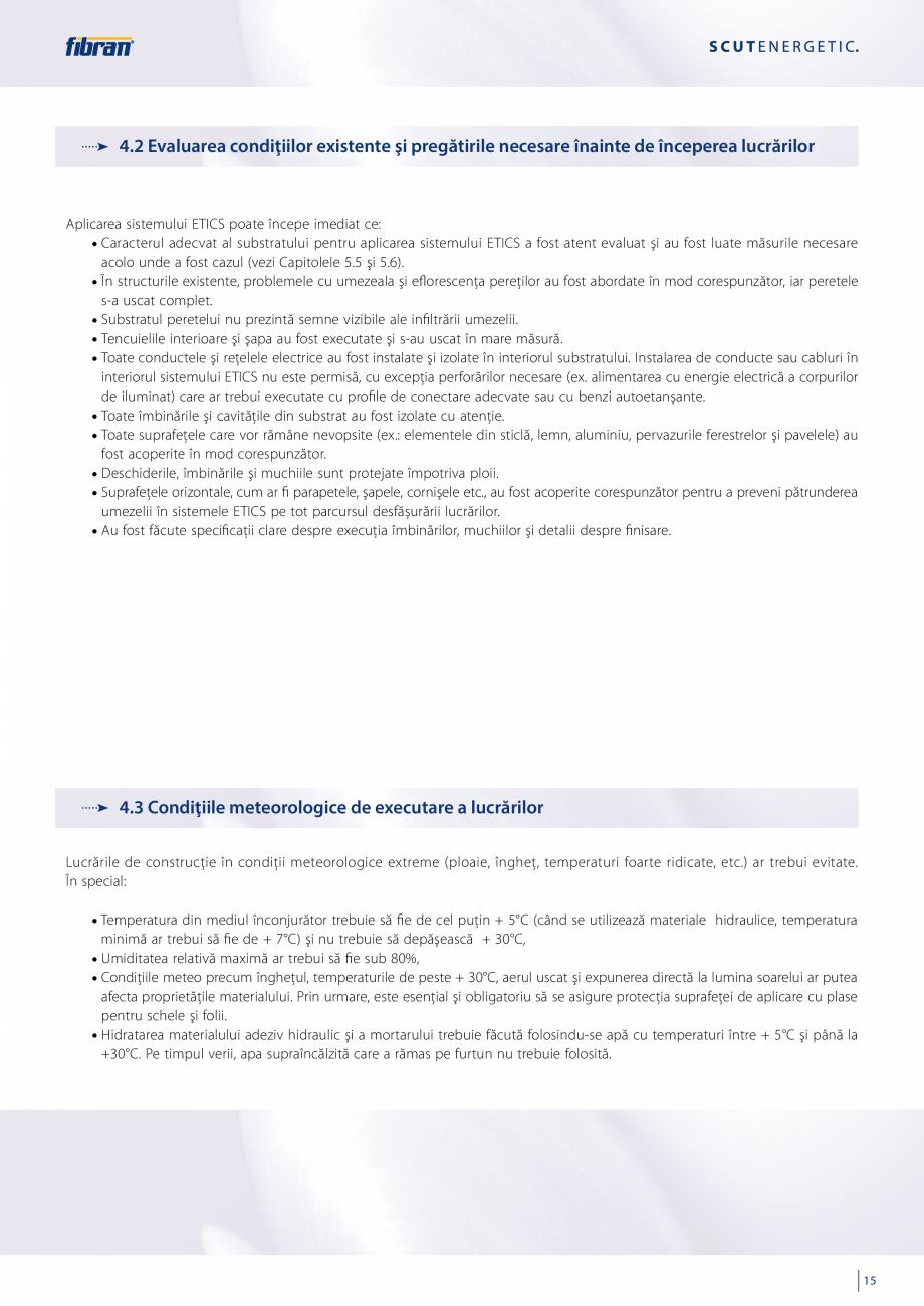 Pagina 13 - Sisteme compozite pentru termoizolarea peretilor exteriori FIBRANxps ETICS GF, ETICS BT ...