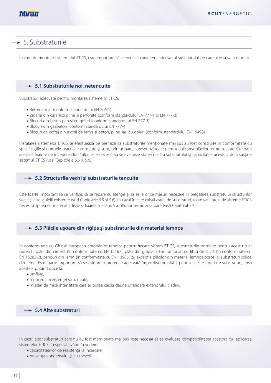 Pagina 14 - Sisteme compozite pentru termoizolarea peretilor exteriori FIBRANxps ETICS GF, ETICS BT ...