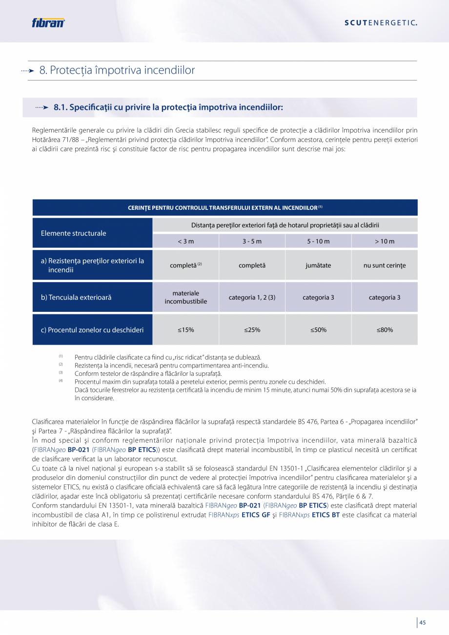 Pagina 43 - Sisteme compozite pentru termoizolarea peretilor exteriori FIBRANxps ETICS GF, ETICS BT ...