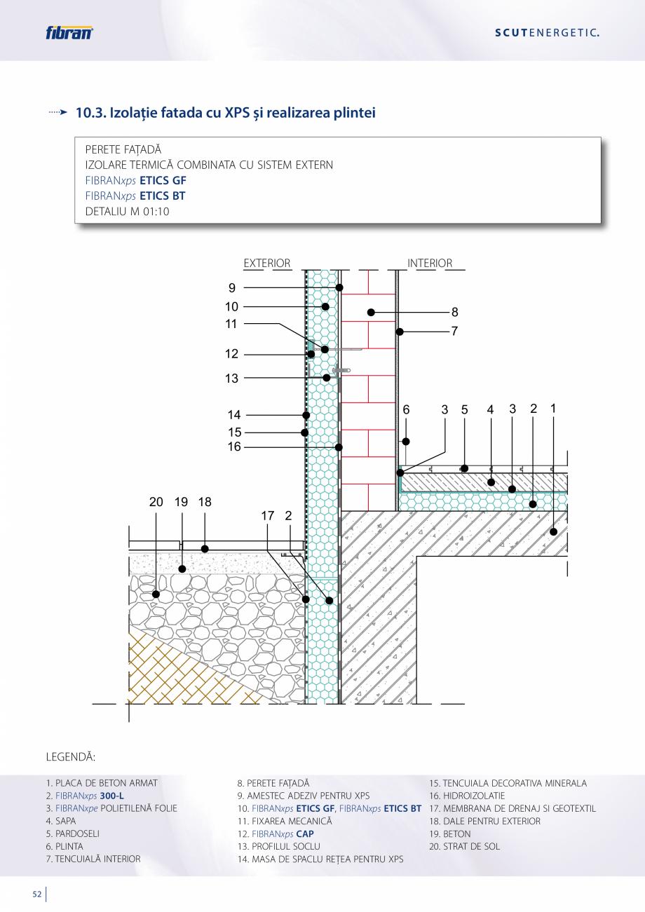 Pagina 50 - Sisteme compozite pentru termoizolarea peretilor exteriori FIBRANxps ETICS GF, ETICS BT ...