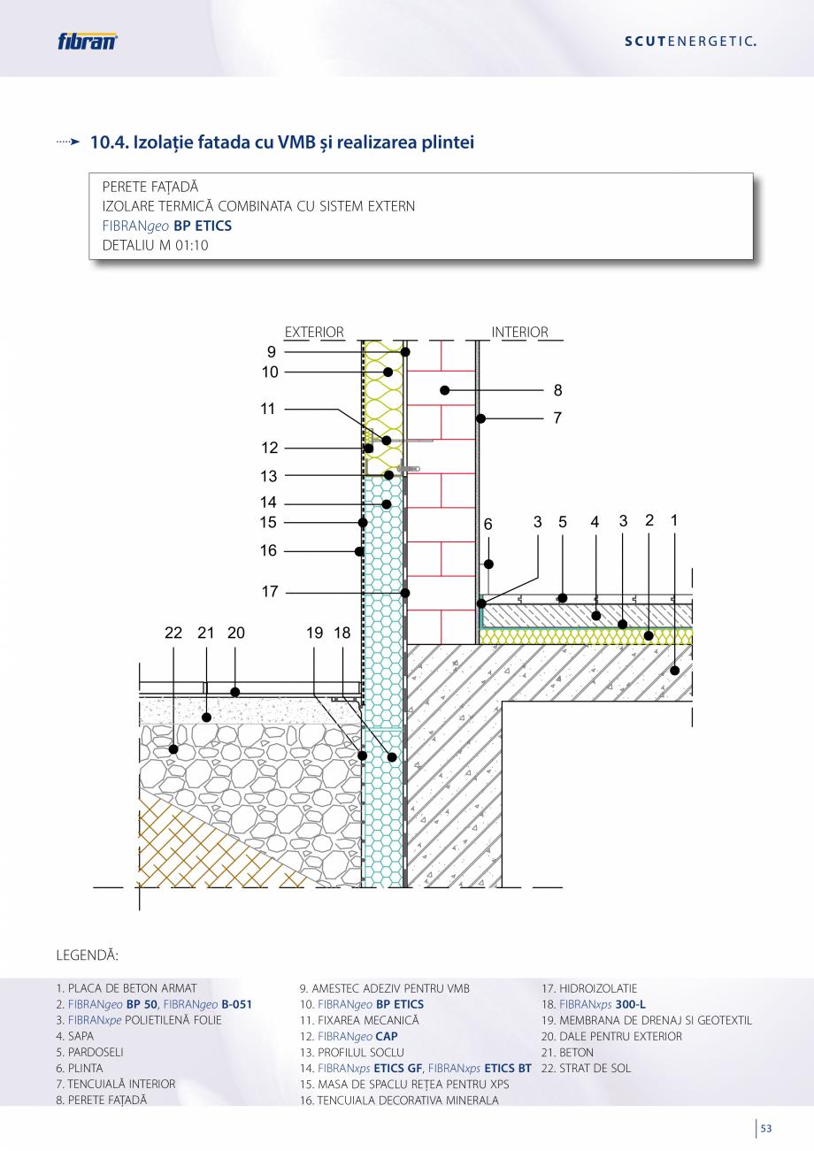 Pagina 51 - Sisteme compozite pentru termoizolarea peretilor exteriori FIBRANxps ETICS GF, ETICS BT ...
