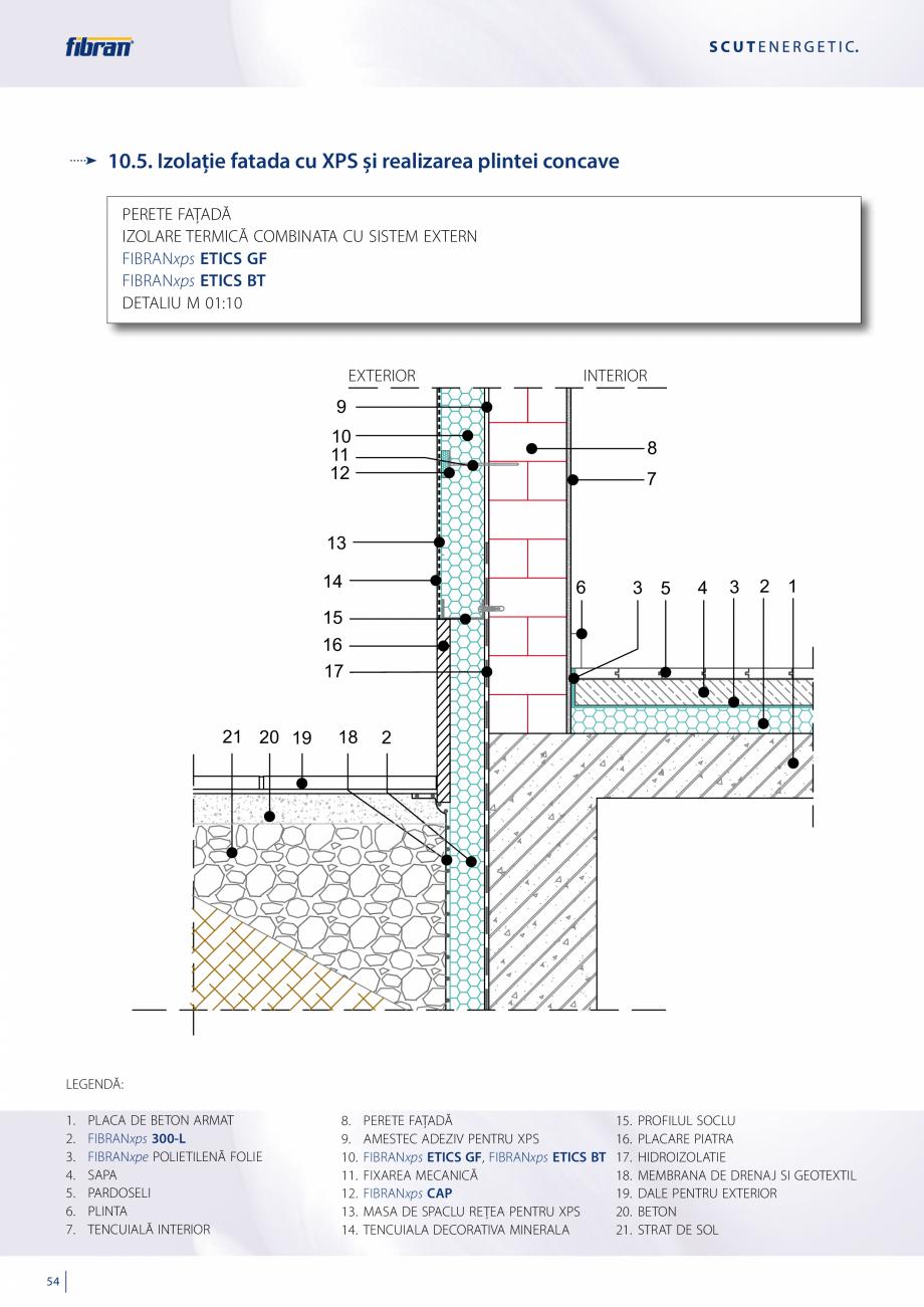 Pagina 52 - Sisteme compozite pentru termoizolarea peretilor exteriori FIBRANxps ETICS GF, ETICS BT ...