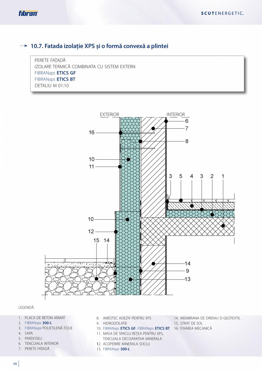 Pagina 54 - Sisteme compozite pentru termoizolarea peretilor exteriori FIBRANxps ETICS GF, ETICS BT ...