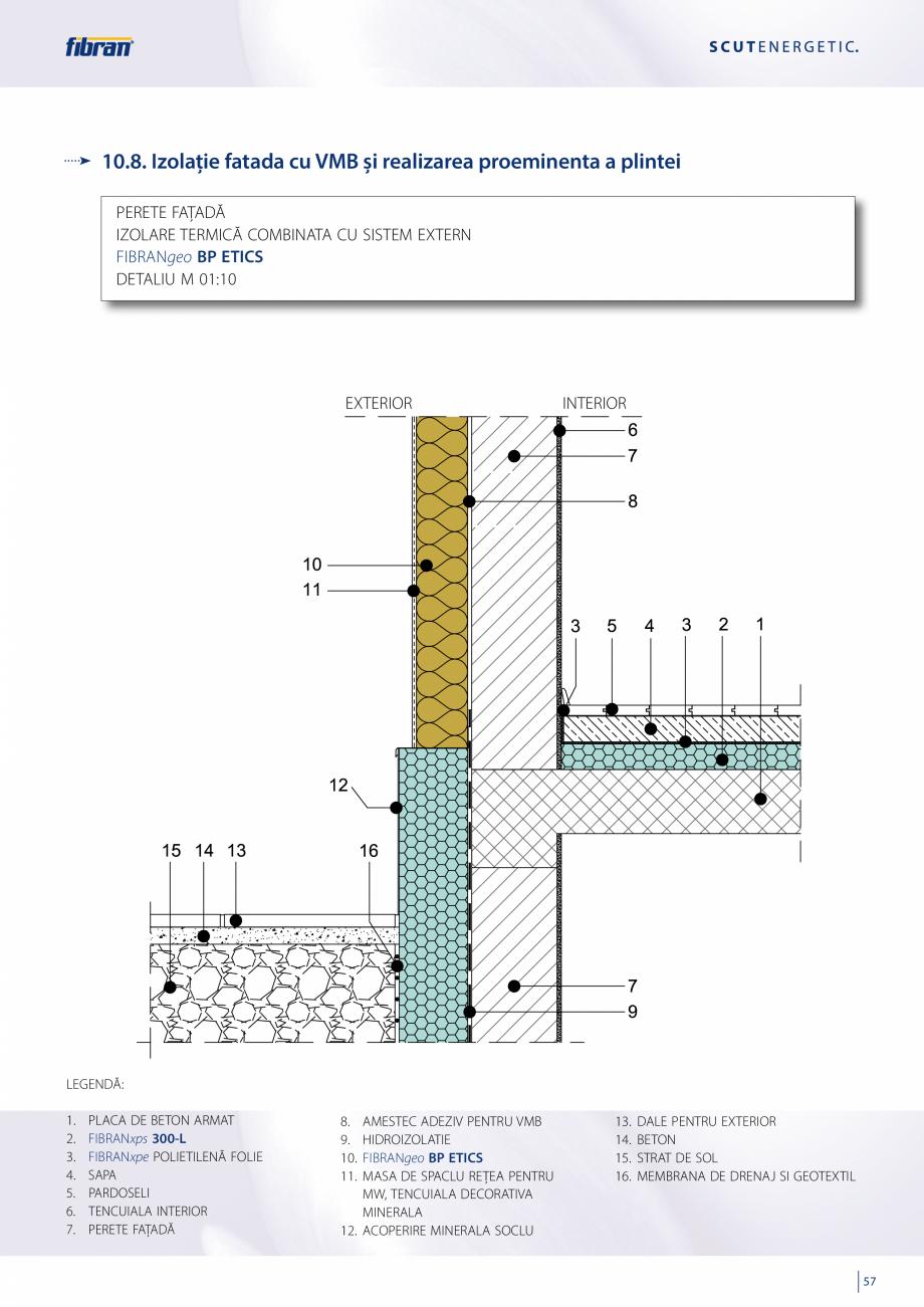 Pagina 55 - Sisteme compozite pentru termoizolarea peretilor exteriori FIBRANxps ETICS GF, ETICS BT ...