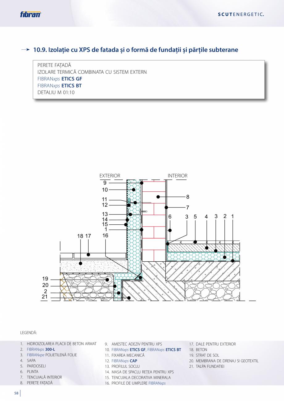 Pagina 56 - Sisteme compozite pentru termoizolarea peretilor exteriori FIBRANxps ETICS GF, ETICS BT ...