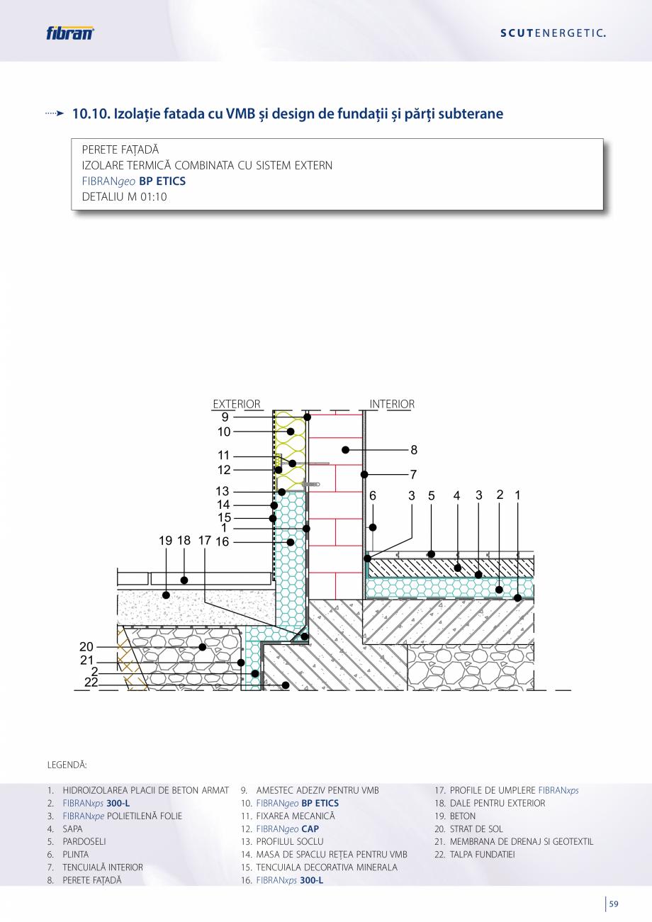 Pagina 57 - Sisteme compozite pentru termoizolarea peretilor exteriori FIBRANxps ETICS GF, ETICS BT ...