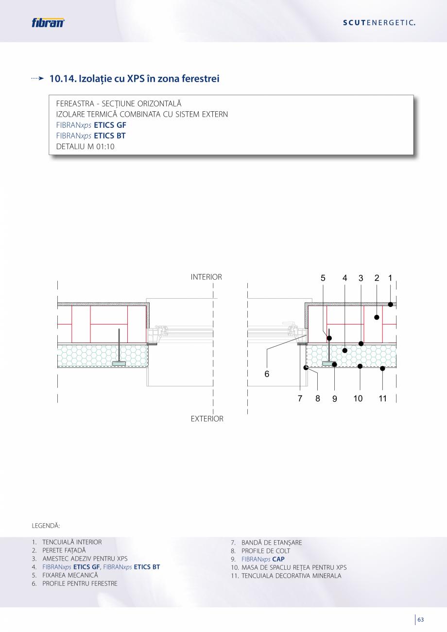 Pagina 61 - Sisteme compozite pentru termoizolarea peretilor exteriori FIBRANxps ETICS GF, ETICS BT ...