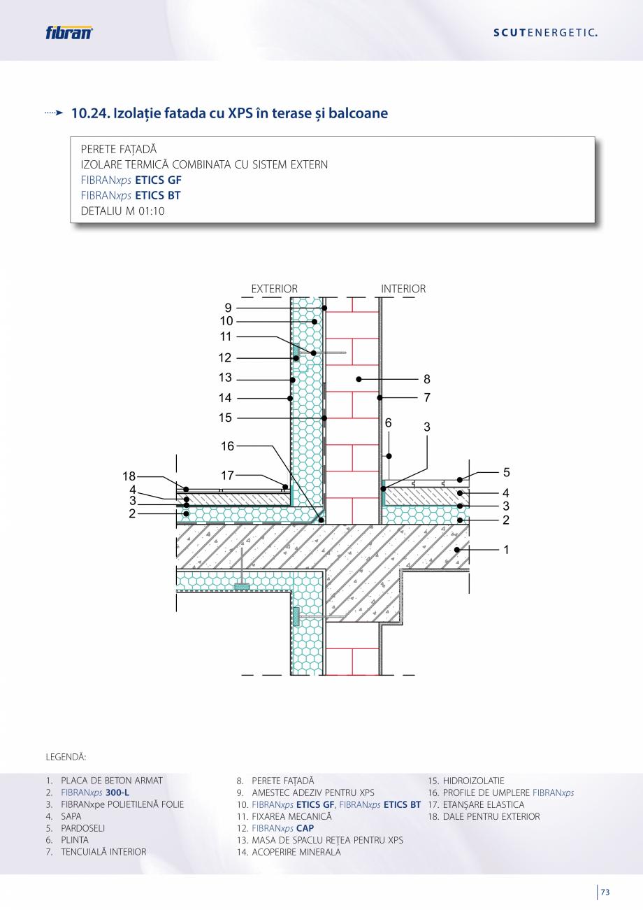 Pagina 71 - Sisteme compozite pentru termoizolarea peretilor exteriori FIBRANxps ETICS GF, ETICS BT ...