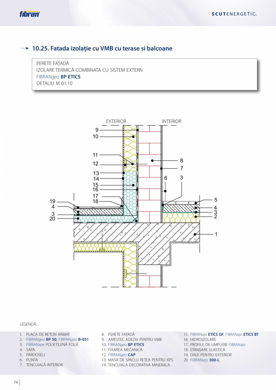 Pagina 72 - Sisteme compozite pentru termoizolarea peretilor exteriori FIBRANxps ETICS GF, ETICS BT ...