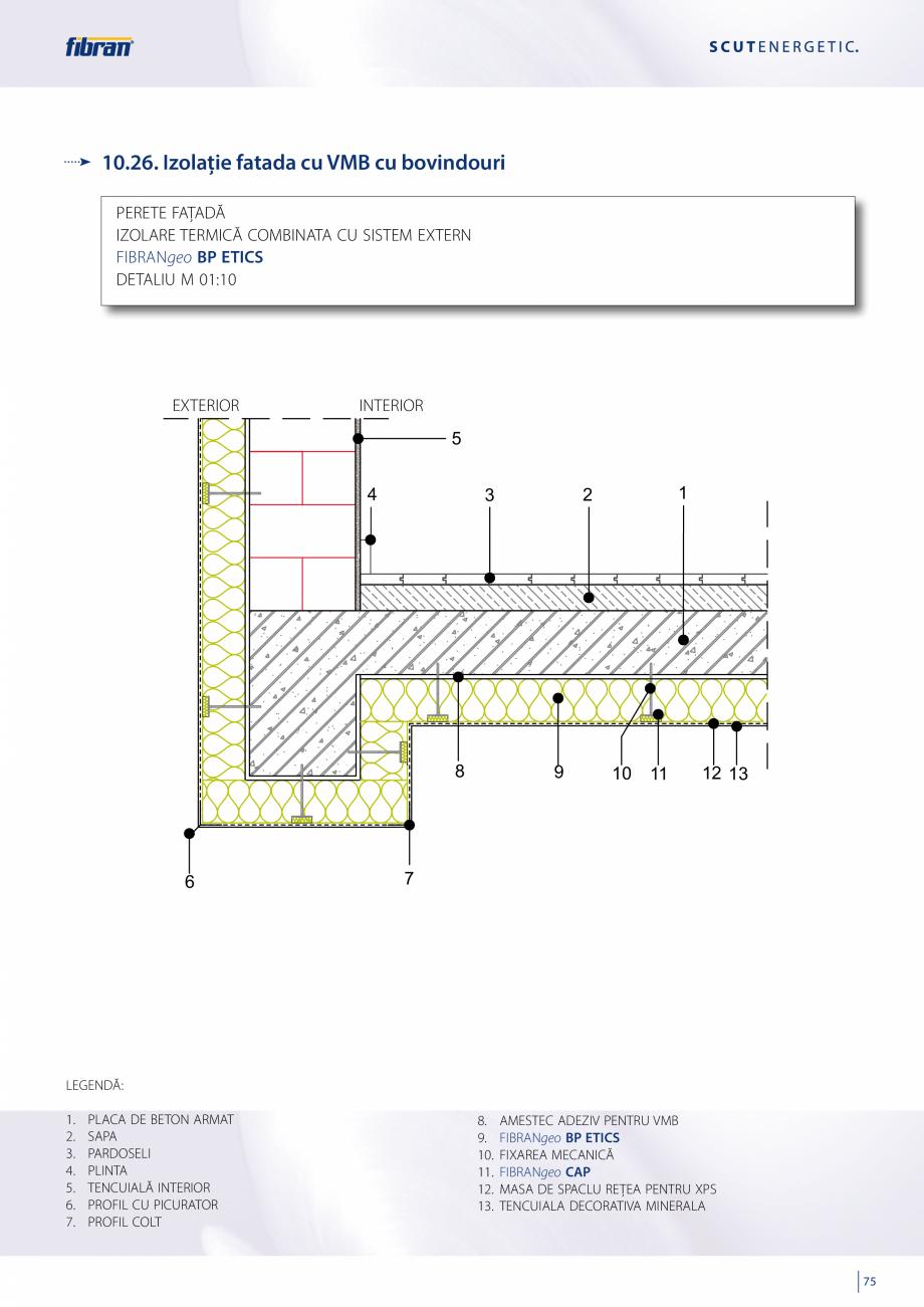 Pagina 73 - Sisteme compozite pentru termoizolarea peretilor exteriori FIBRANxps ETICS GF, ETICS BT ...