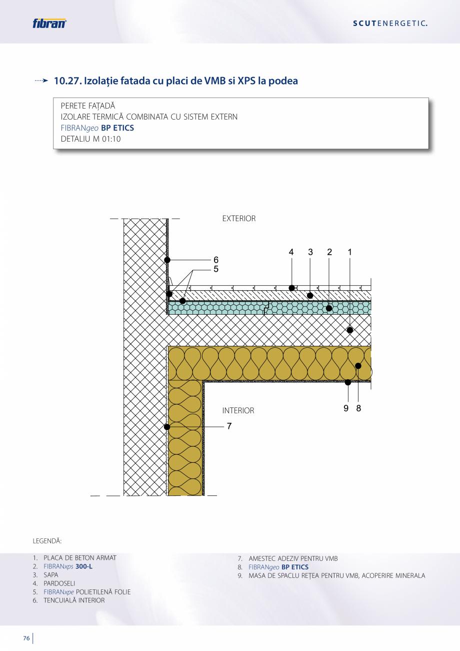 Pagina 74 - Sisteme compozite pentru termoizolarea peretilor exteriori FIBRANxps ETICS GF, ETICS BT ...
