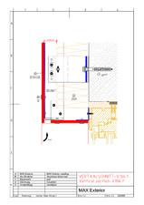 Detaliu fatada racord orizontal fereastra FUNDERMAX