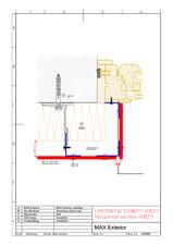 Detaliu fatada racord vertical fereastra FUNDERMAX