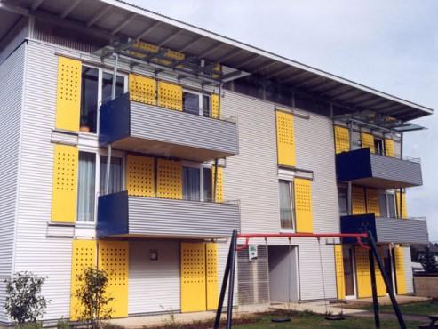 Lucrari, proiecte Placi HPL pentru placare parapeti balcoane FUNDERMAX - Poza 7