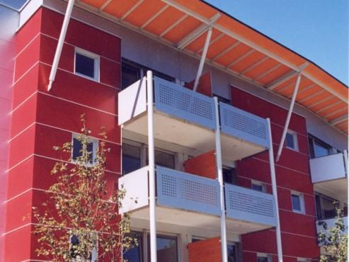 Lucrari, proiecte Placi HPL pentru placare parapeti balcoane FUNDERMAX - Poza 6