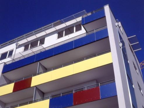 Lucrari, proiecte Placi HPL pentru placare parapeti balcoane FUNDERMAX - Poza 2