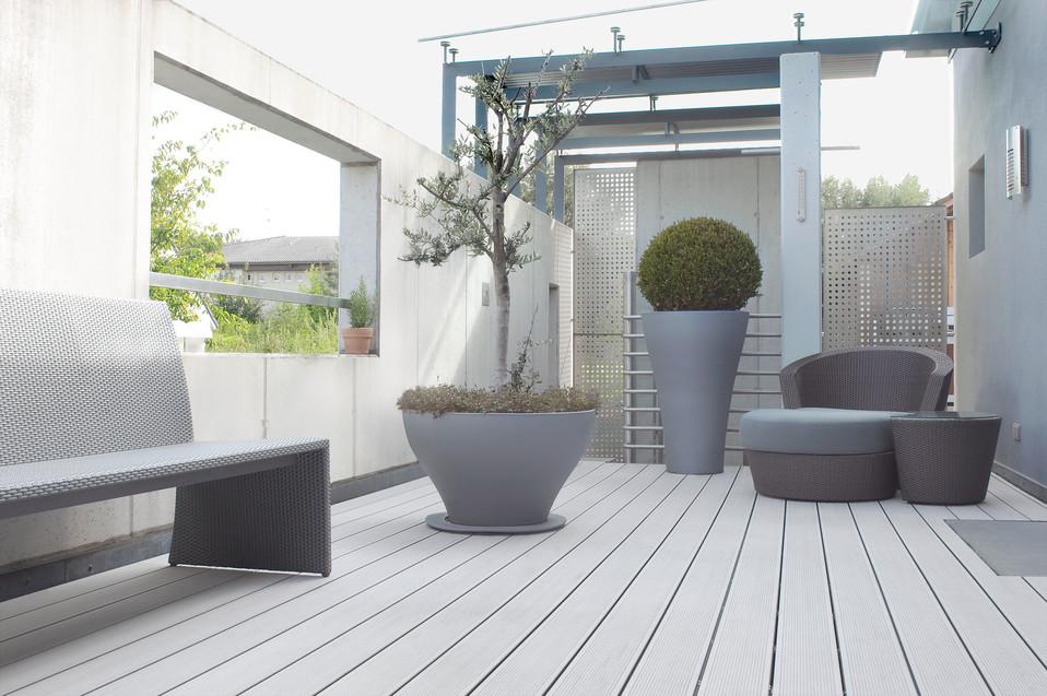 Terase - Decking compozit tip WPC pentru pavaje terase, pardoseli piscine REHAU - Poza 48