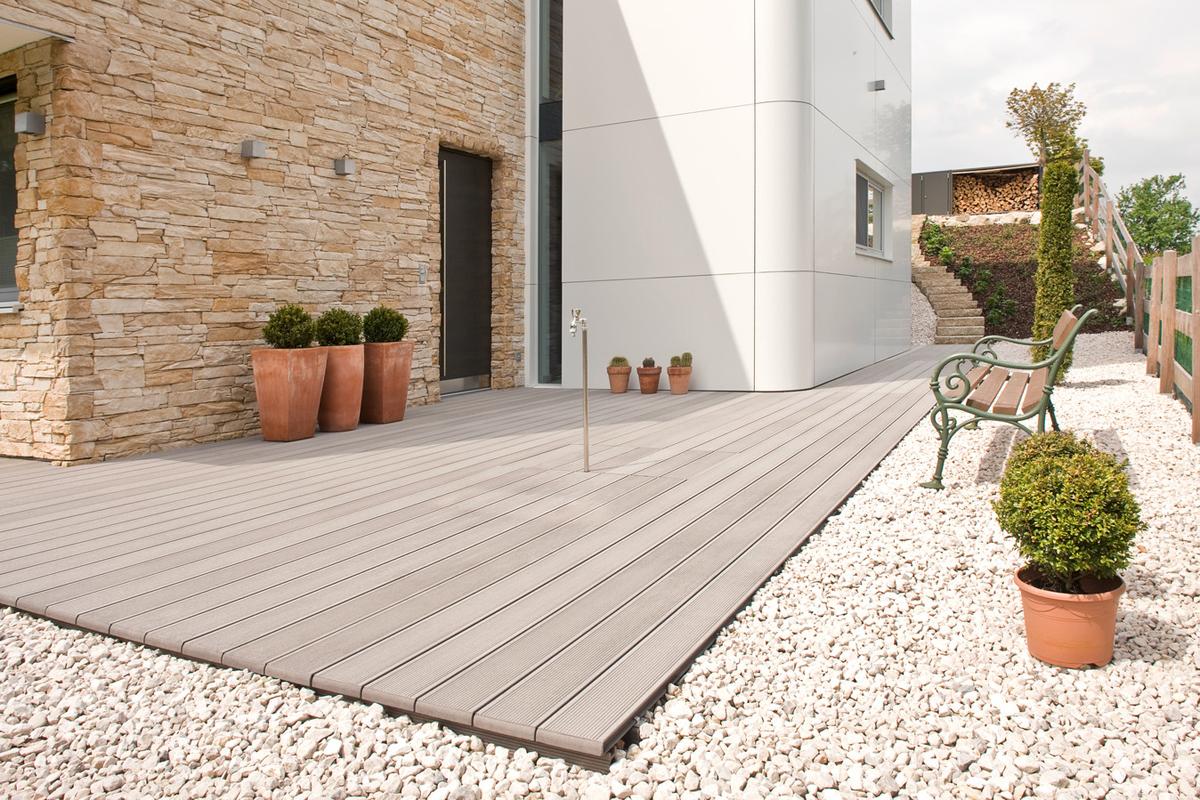 Terase - Decking compozit tip WPC pentru pavaje terase, pardoseli piscine REHAU - Poza 52