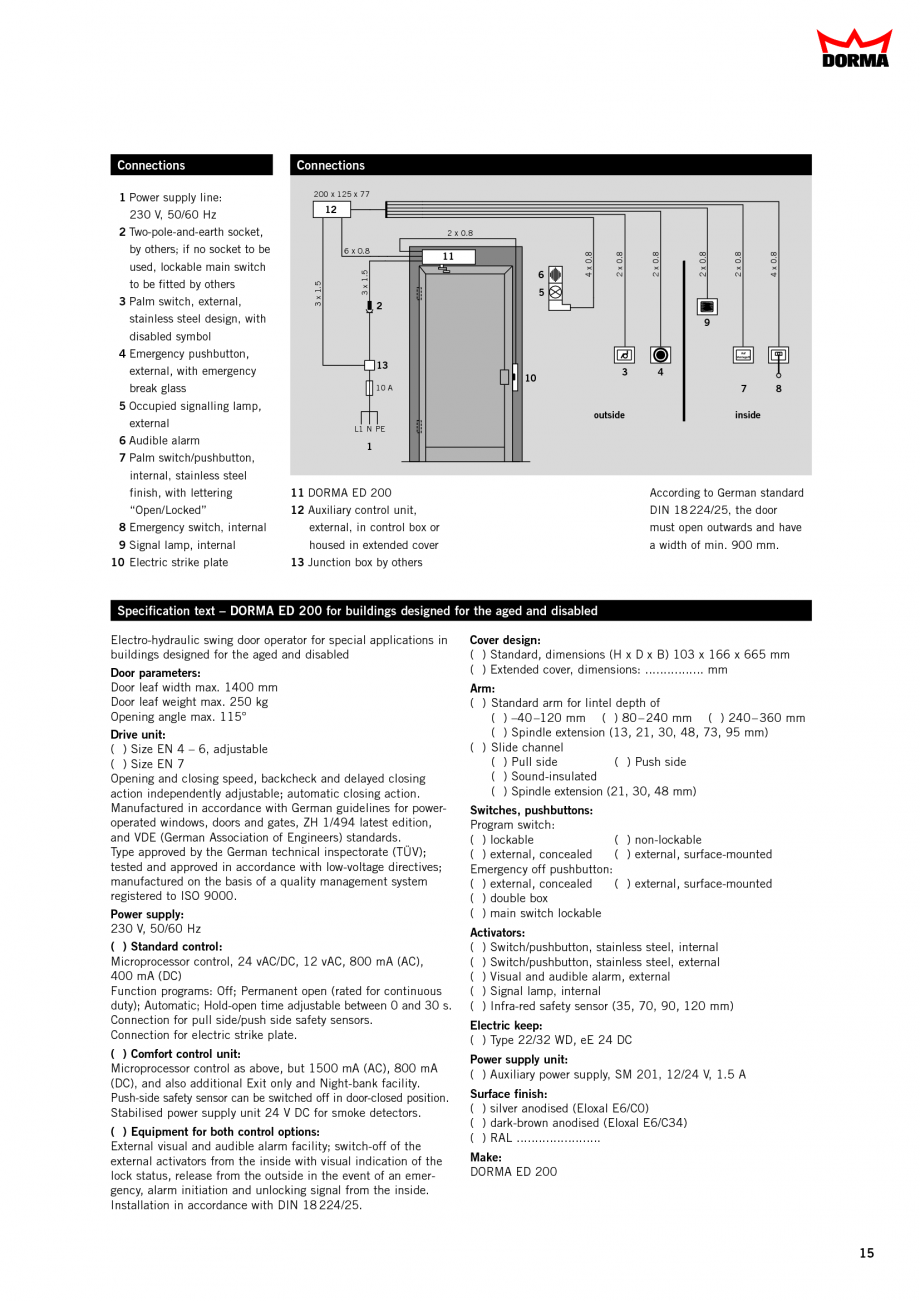 Fisa Tehnica Sisteme De Automatizare Pentru Usi Batante
