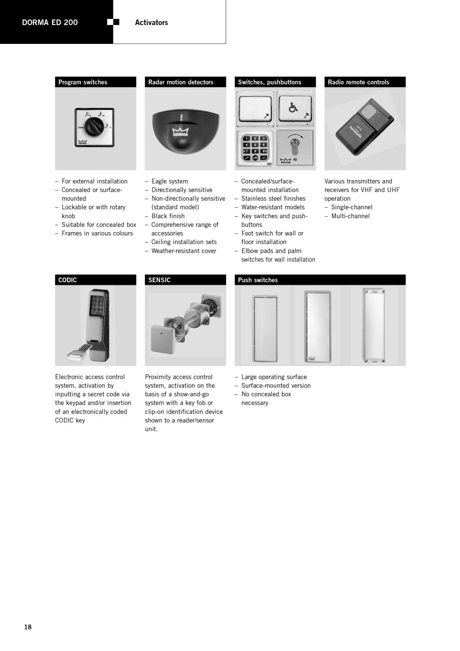fisa tehnica sisteme de automatizare pentru usi batante dorma sisteme de automatizare pentru usi