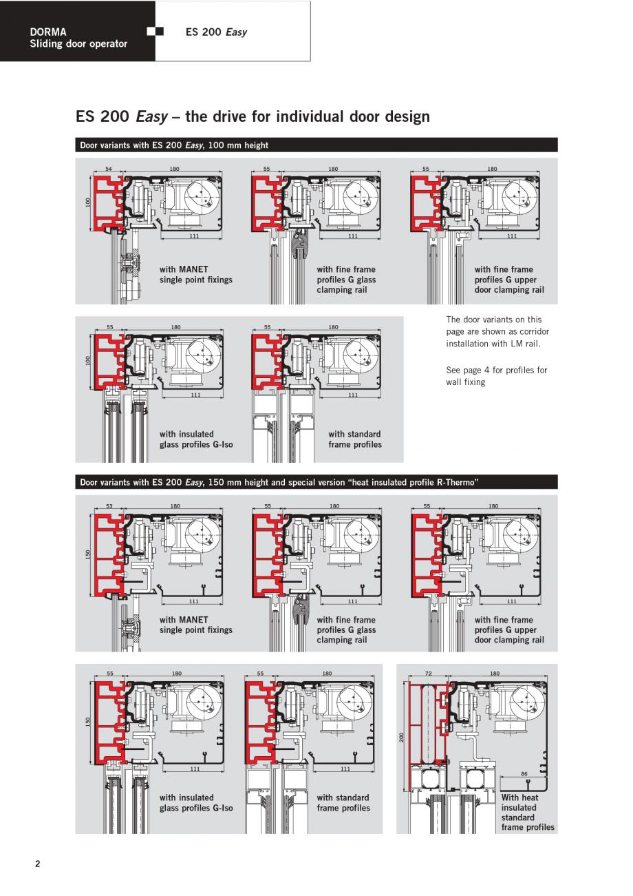 Fisa tehnica sisteme de automatizare pentru usi glisante es 200 easy dorma sisteme de - Tips keeping sliding doors reliable functional ...