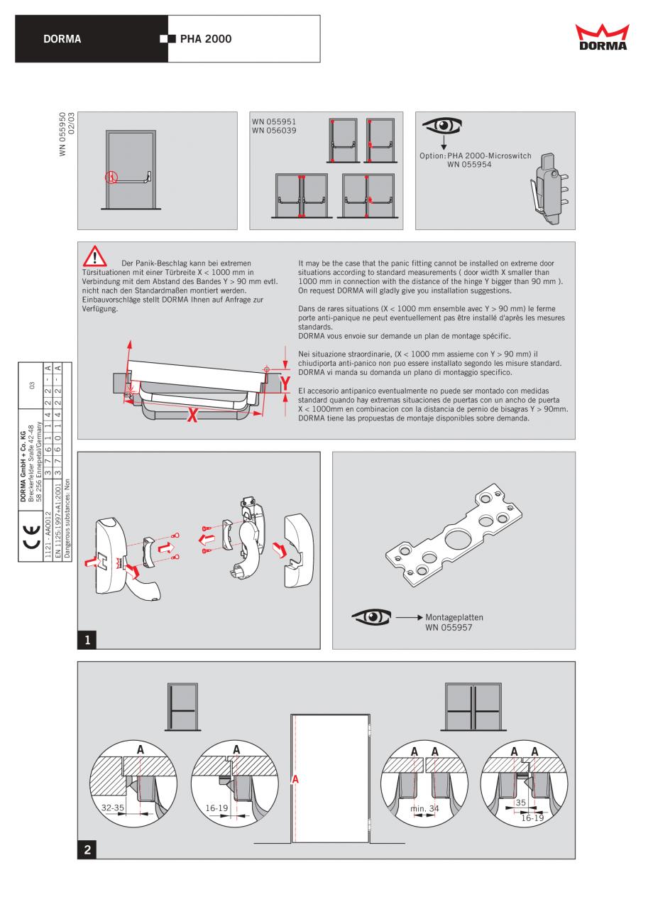 instructiuni de montaj utilizare bare antipanica cu 1. Black Bedroom Furniture Sets. Home Design Ideas
