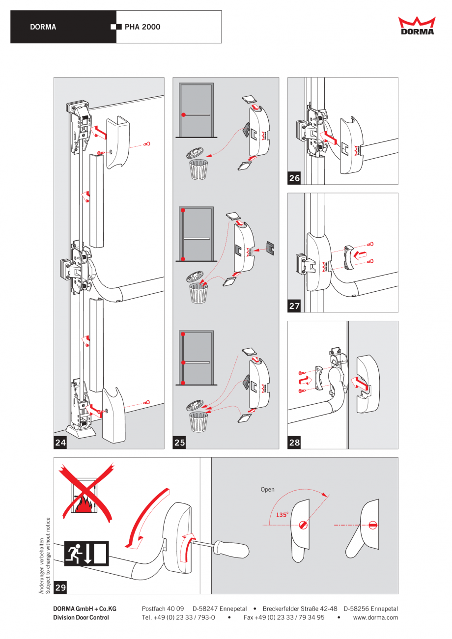 instructiuni de montaj utilizare bare antipanica cu 3. Black Bedroom Furniture Sets. Home Design Ideas