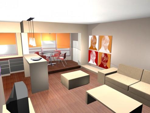 Lucrari, proiecte Amenajare apartament Decebal  - Poza 12